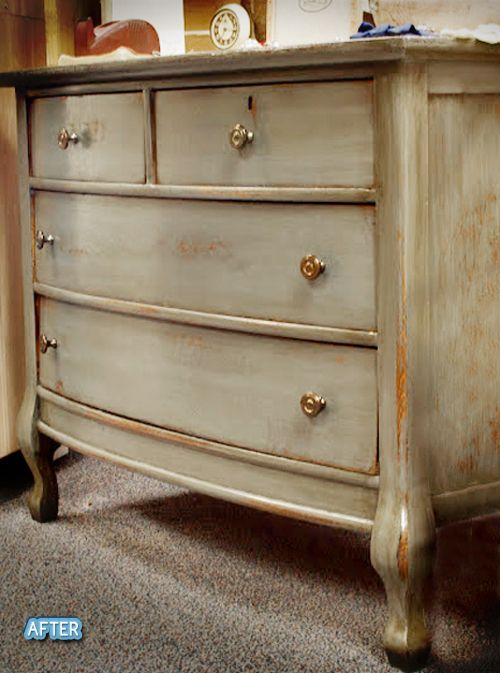 Step-by-step instruction on how to achieve this beautiful paint finish. I have an old dresser I would love to try this on.