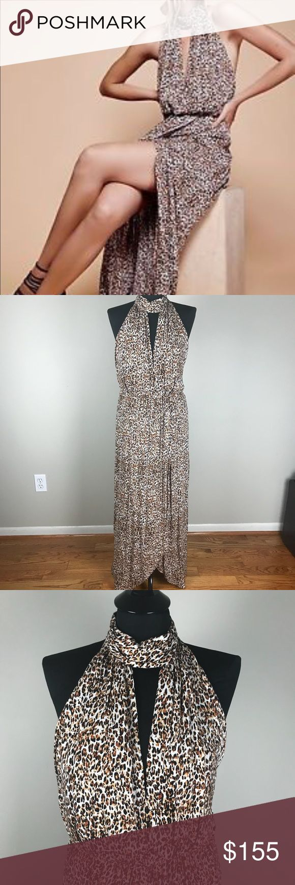 Free People Leopard Maxi Dress NWT New with tags long maxi dress in Leopard material by Free People. Modeled on standard size 6 mannequin. Free People Dresses Maxi