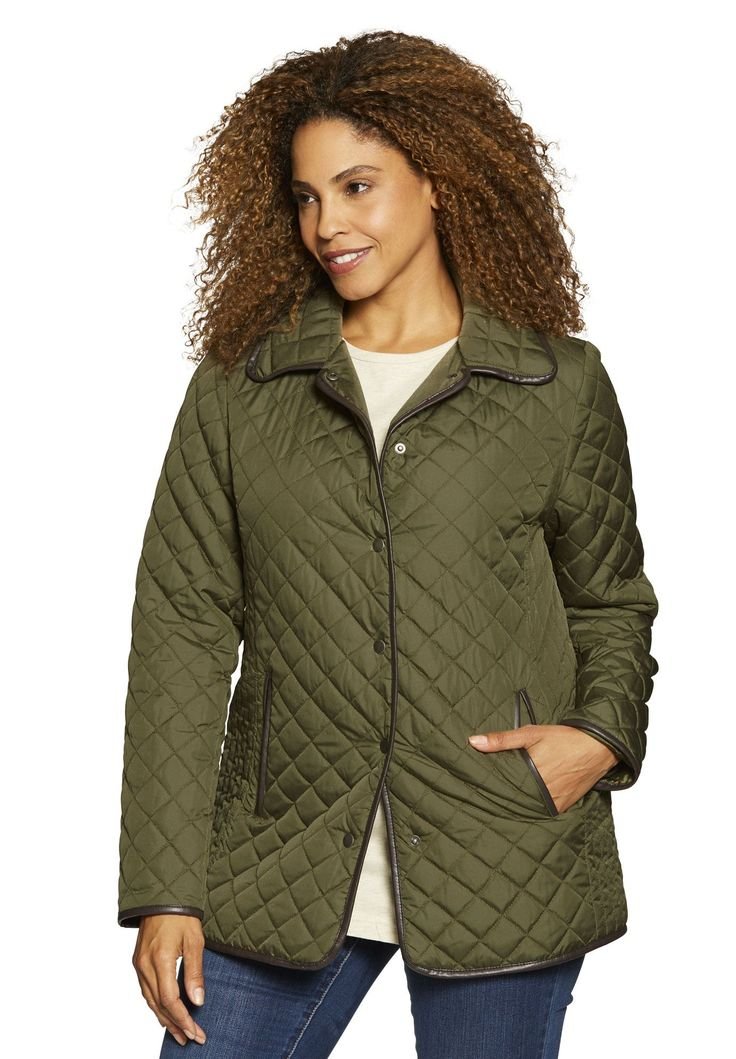 Light quilted snap-front jacket – Women's Plus Size Clothing