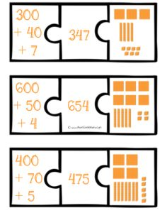 FREE Expanded Number Puzzles for learning place value!