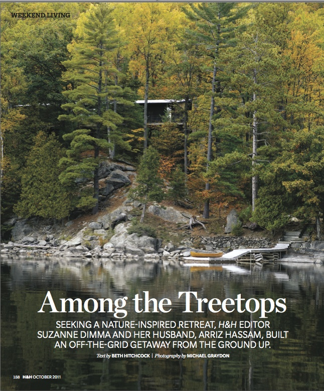 "Gold winner in Homes & Gardens. ""Among the #Treetops"" by Mandy Milks published in #Canadian House & #Home, 2011."