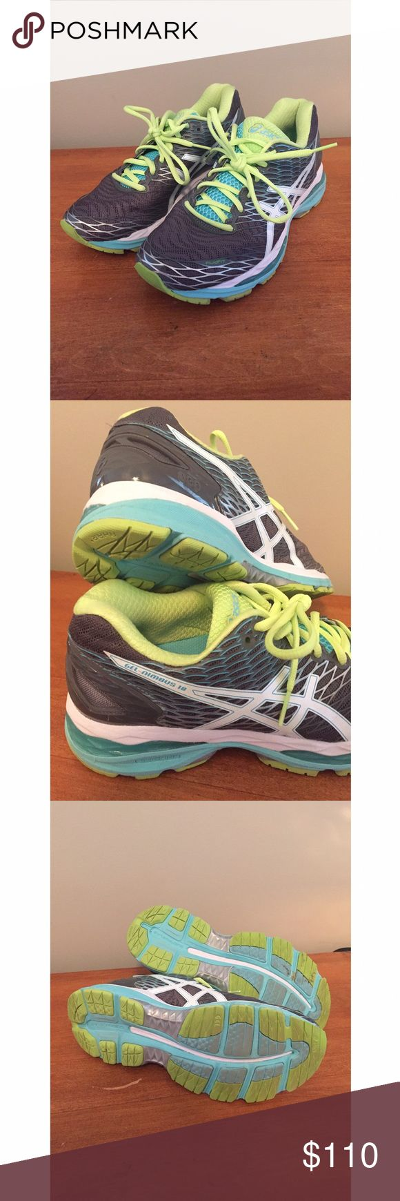 💚🎉 ASICS GEL-NIMBUS 18 Running Shoes SALE!!!! ASICS® Women's GEL-Nimbus running shoe remains a crowd favorite • Ideal for neutral runners • Worn ONCE • Top Rated!! Make an offer or bundle to save even more! Asics Shoes Athletic Shoes
