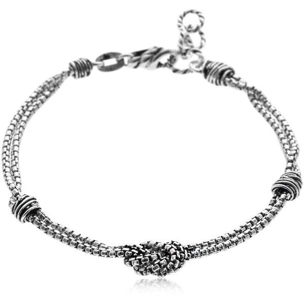 Giacomo Burroni Men Etruscan Knots Silver Bracelet ($205) ❤ liked on Polyvore featuring men's fashion, men's jewelry, men's bracelets, silver, mens bracelets, mens watches jewelry and mens silver bracelets