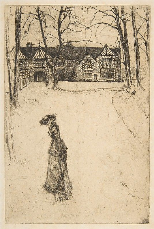 Speke Hall, No. 1  James McNeill Whistler  (American, Lowell, Massachusetts 1834–1903 London)  Date: 1870 Medium: Etching and drypoint; seventh state of ten