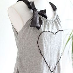 Restyle your boyfriends old shirt into this lovely personalized top.