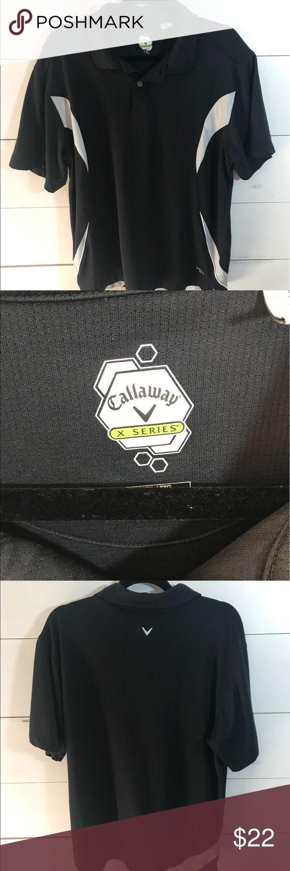 Callaway X Series Golf Polo Shirt Sz XXL Black Callaway X Series Golf Polo Shirt Sz XXL Black and gray good condition Callaway Shirts Polos
