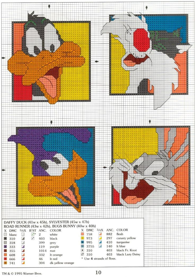 Cross Stitch Mania: Looney Tunes Cross Stitch Charts Free