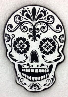 Day of the death sugar skull airbrush stencil by joannakrzepkowska, $18.00