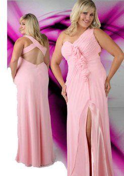 amie de longue col en V rose, plus la taille des robe de bal grande taille