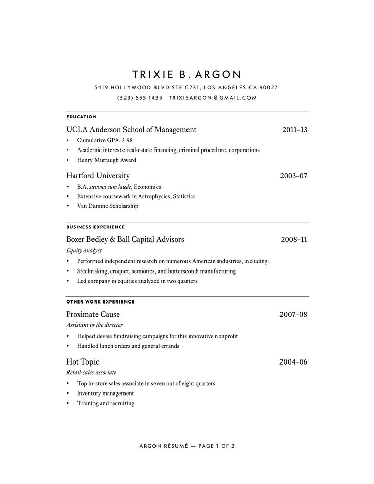 Résumés Buttericku0027s Practical Typography R E S U M E - what should a resume look like