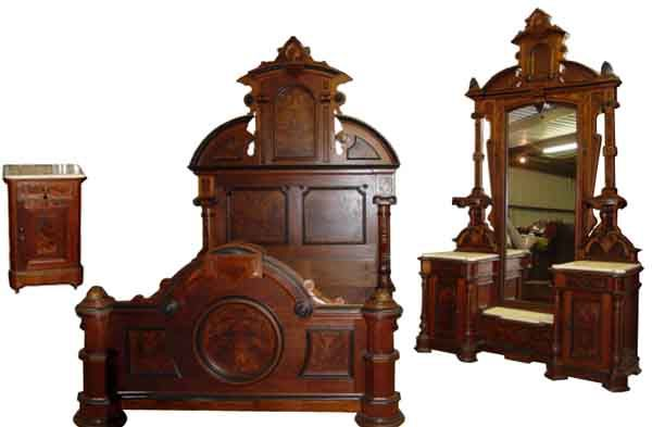 Victorian bedroom sets used drew jessica mcclintock 4 piece mansion bedroom set 888 349 for Victorian bedroom furniture for sale