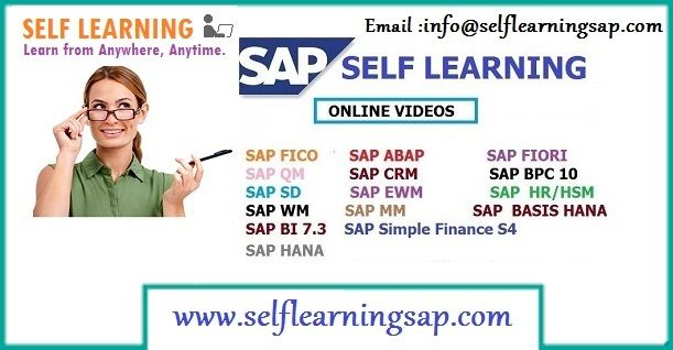 SAP all Modules Available Best Price in SELF LEARNING CENTER. http://www.selflearningsap.com  We have the training solutions for the modules like SAP SD, CRM, QM, FIORI , BPC10 , HANA S4 simple finance,  MM ,  ABAP,  FICO,  APO, WM,  EWM , BO 4.1 , BI 7.3, PI 7.4,PP, HR/HCM , BASIS  HANA ,  ABAP Webdynpro & OOPs.