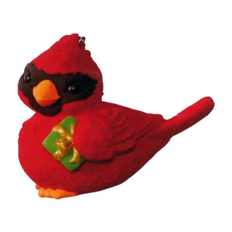 """2016 KOC Member Ornament Premiere Gift - A GIFT FOR YOU Features a baby cardinal with package under his wing. By Tammy Haddix. 2"""" w. x 1¾"""" h. LPR3371 Free with the purchase of a Hallmark Keepsake ornament priced $9.95 or more (regularly $9.95)digitalDREAMBOOK.com"""
