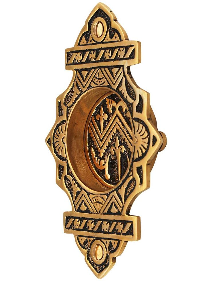 Oriental Pattern Pocket Door Pull Without Keyhole   House of Antique Hardware