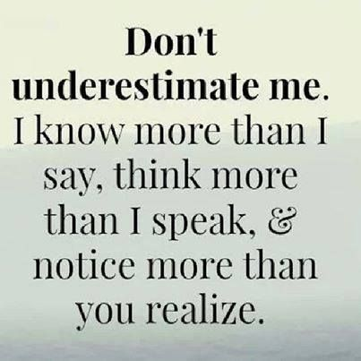 I always notice more than you realize -