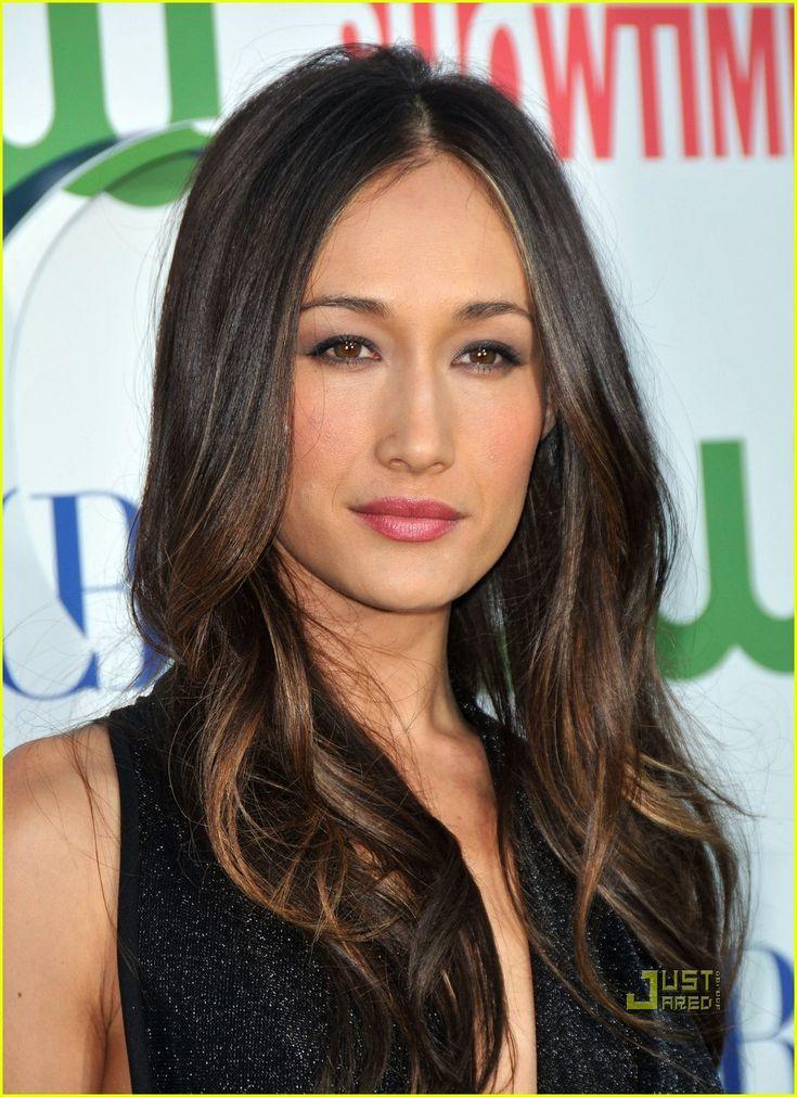 Maggie Q ombre hair