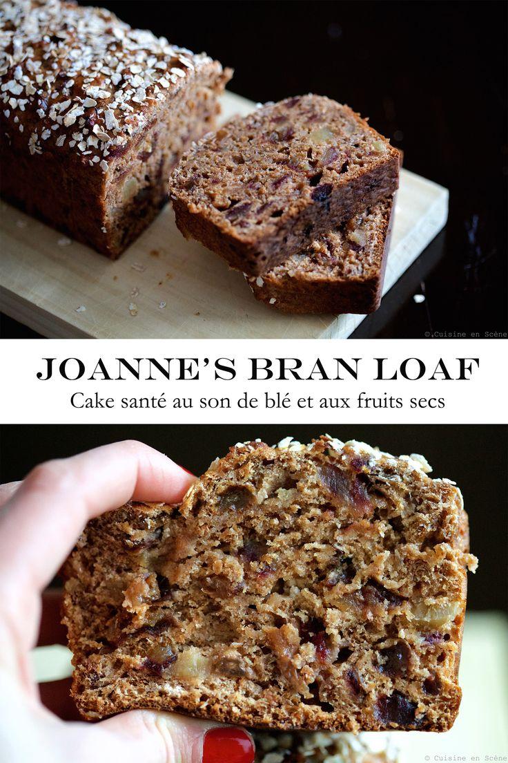 Bonsoir les gourmands! Aujourd'hui je vous présente la recette de JoAnne, une amie australienne dont j'ai fait la connaissance au mois de Décembre à Menton: un délicieux cake, moelleux et humide, réalisé à partir de céréales au son de blé, avec presque zéro matière grasse et