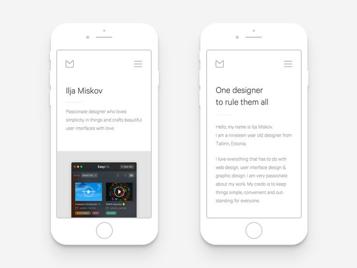 Hey guys! Wanted to give you a little sneak peek.  Working hard on developing a mobile version of my brand new upcoming website. I really love they way it looks. Pure minimalism is something that i...