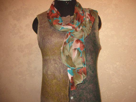 Female elongated jacket  coat. Felt. Handmade . от kerikfelt