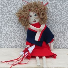 Little Doll with Red Dress