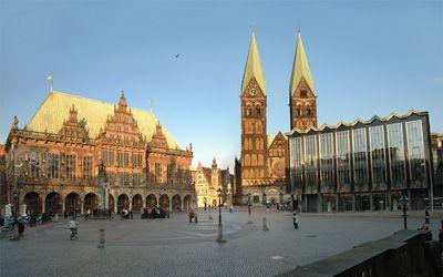 Βρέμη - Δημαρχείο, καθεδρικός και τοπικό κοινοβούλιο