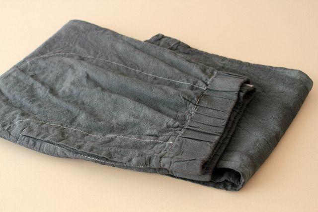 TOILE pantaloni lunghi, tintura in capo col. nero