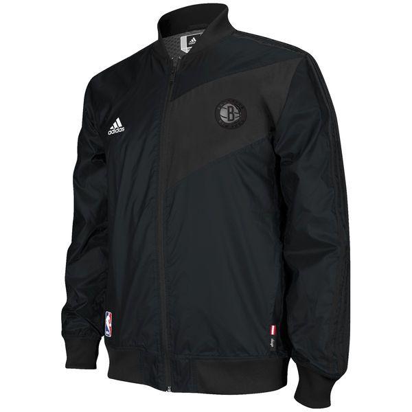 adidas Brooklyn Nets Faster Warm-Up Full Zip Jacket - Black - Fanatics.com