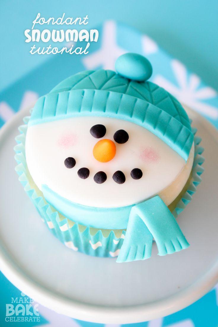 Fondant snowman tutorial!