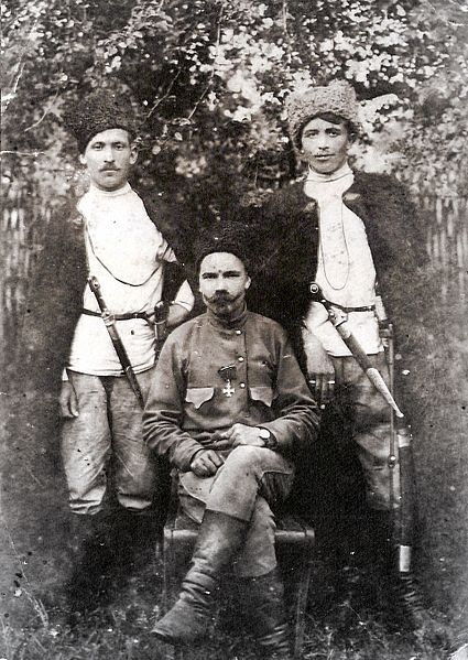Group of Kuban Cossacks, 1900 – 1920s, Russia