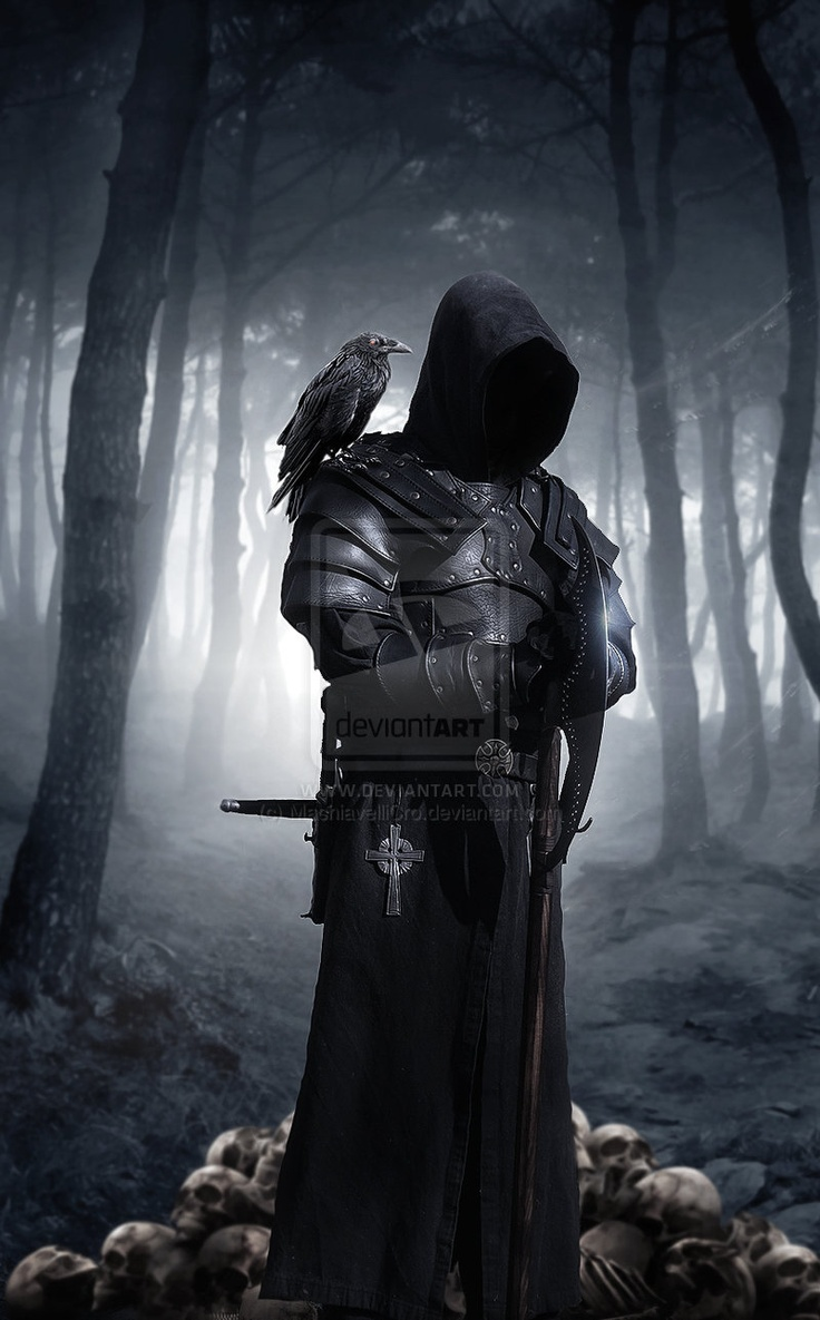 Executor by MachiavelliCro.deviantart.com on @deviantART: Dark Night, The Artists, Wood, Fantasy Art, Crows Link, Warriors, Models Link, Backgraund Link, Dark Knights