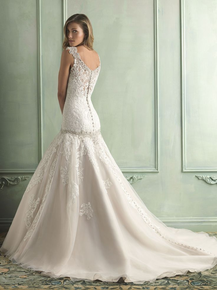 Allure Bridals : Allure Collection : Style 9127 : Available colours : White/Silver, Ivory/Silver, Champagne/Ivory/Cafe/Silver (back)