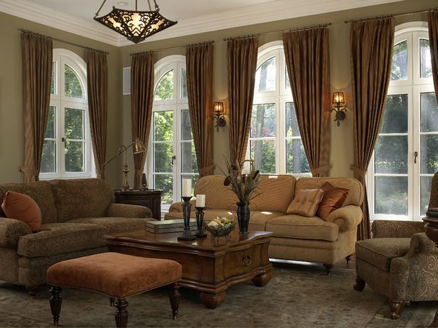 Traditional Living Room With Draperies And Neutral Furnishings   On HGTV Part 80