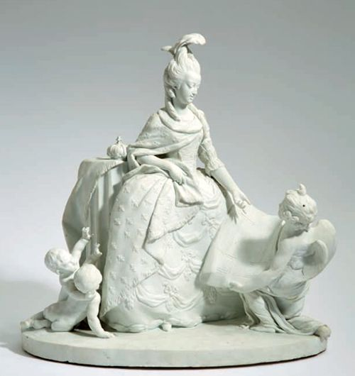 A small sculpture of Marie Antoinette by a French artist. 18th century. [credit: Christie's Auction/'Marie Antoinette Collection' Catalog]