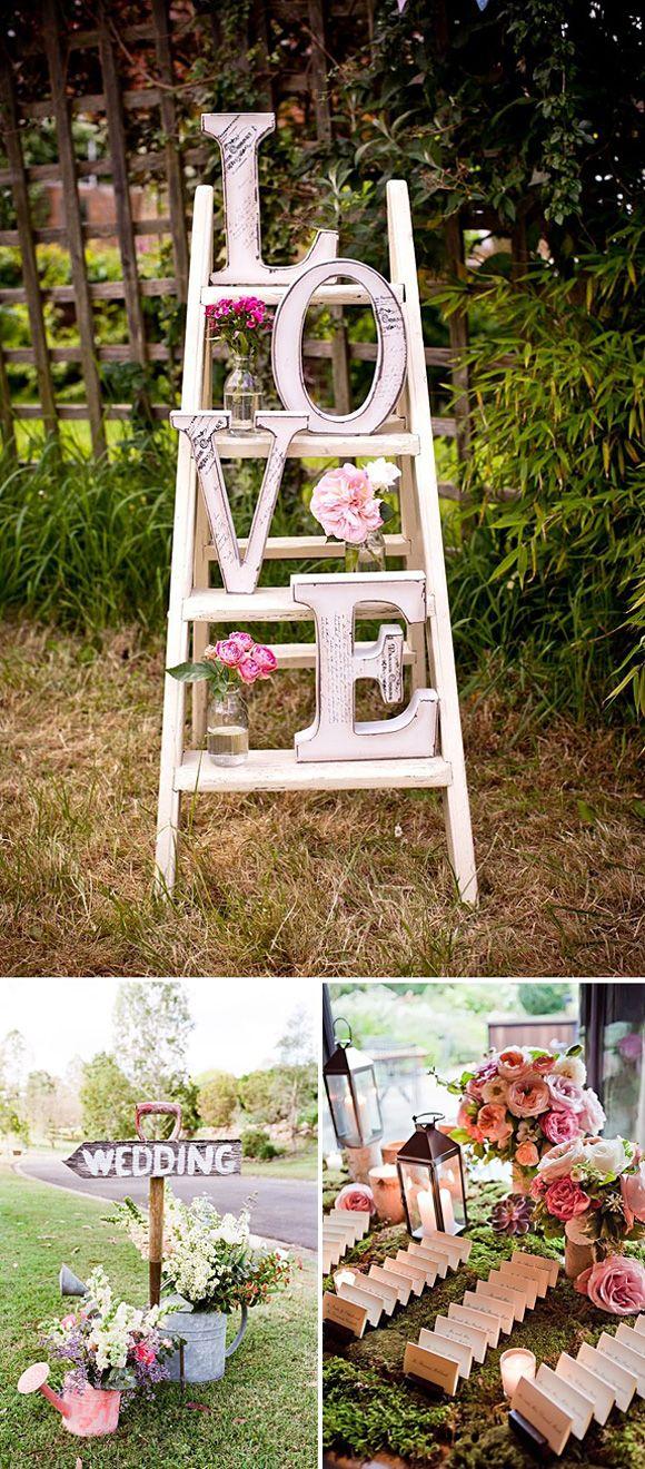 Arreglos florales en tonos rosas