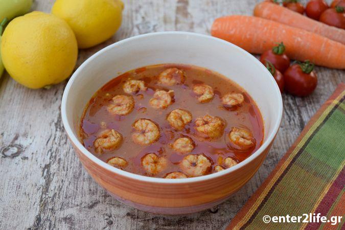 Γαριδόσουπα με λαχανικά και φρέσκα αρωματικά – enter2life.gr