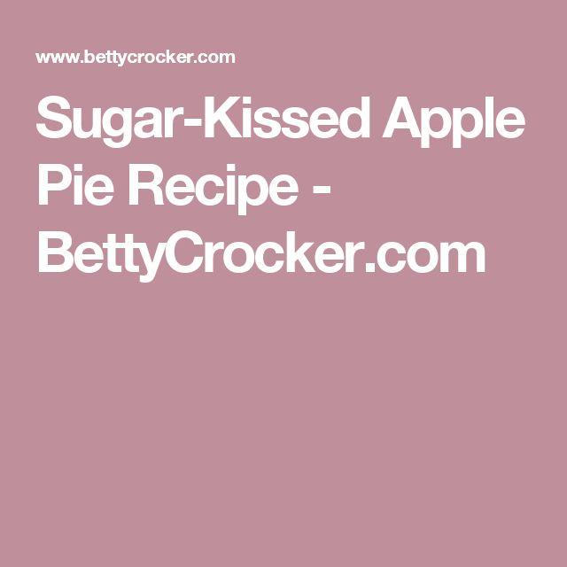 Sugar-Kissed Apple Pie Recipe - BettyCrocker.com