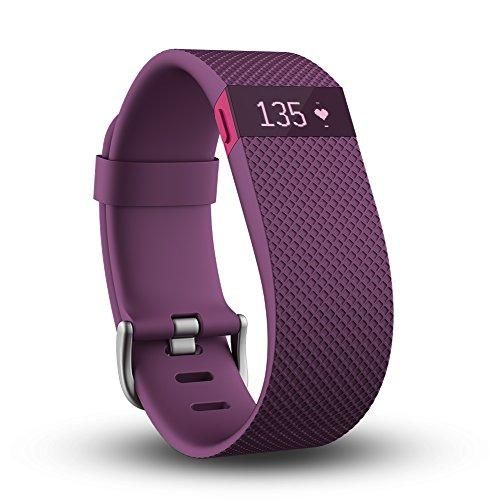Fitbit Charge HR Wireless Activity Wristband (Plum, Large (6.2 - 7.6 in))