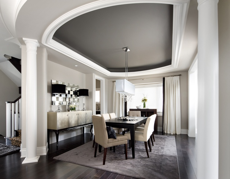 Dining Room Design, Pictures, Remodel, Decor And Ideas   The Painted  Ceiling. A Darker Shade Of Surrounding Wall Color To Paint The Inside Tray  Ceiling Is A ...