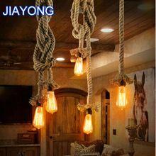 Vintage Touw Hanglamp Lamp Loft Creatieve Persoonlijkheid Industriële Lamp Edison Lamp Amerikaanse Stijl Voor Woonkamer(China (Mainland))