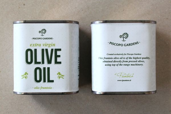 Piscopo Gardens Extra Virgin Olive Oil on Packaging of the World