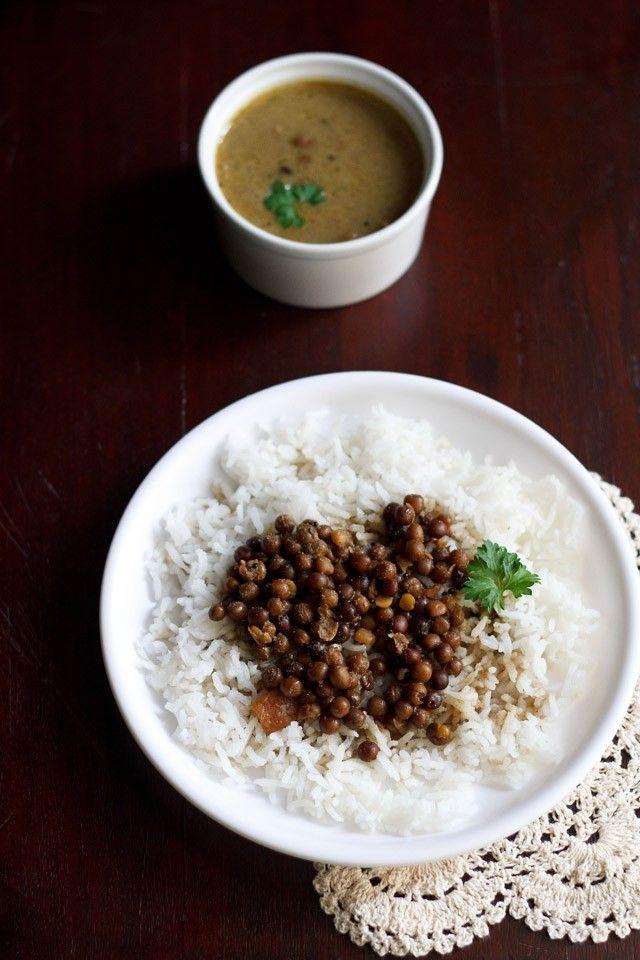 kala vatana amti or black peas curry for ganesh chaturthi festival. learn how to make kala vatana amti. in marathi language its called as kalya vatanyche amti.