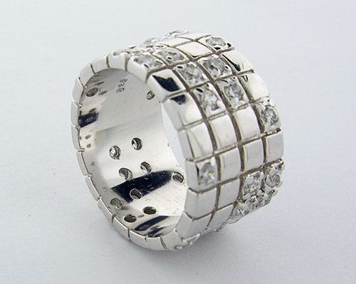 Sterling Silver Ring with CZs
