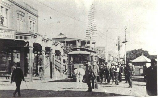 Chatswood Tram Terminus, North West of Sydney. (Photo undated) Possibly early 1900's.  v@e.