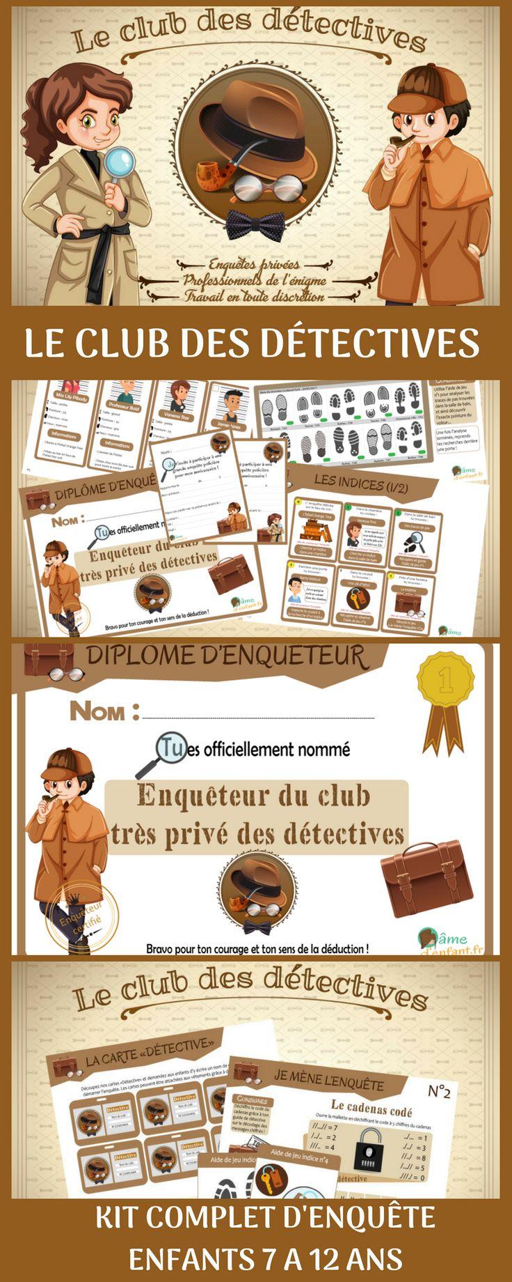 Énigme policière- Le club des détectives (10/12 ans)
