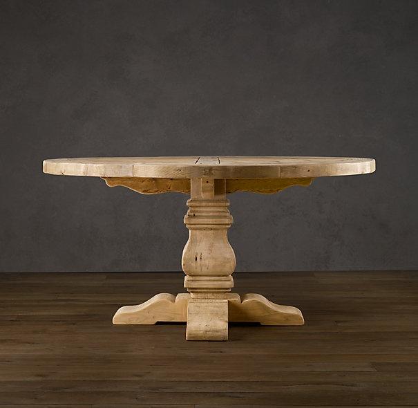 Restoration Hardware PEDESTAL SALVAGED WOOD ROUND TABLES $1795    $1895SPECIAL $1395   $1595