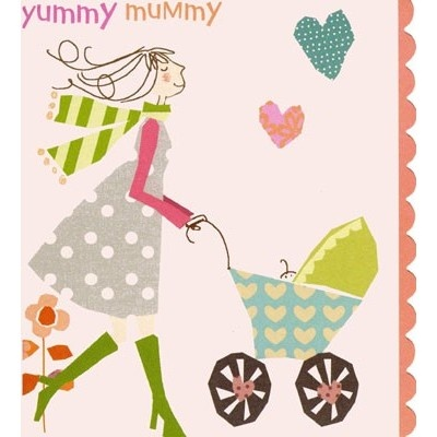 Yummy Mummy, priced at £2.15 at Orchardcards.co.uk