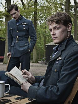 "Sam Heughan in the role of RAF pilot Geoffrey Wellum in the battle of Brittain (1940). ""Firelight"" film directed by Matthew Whiteman. 2010."