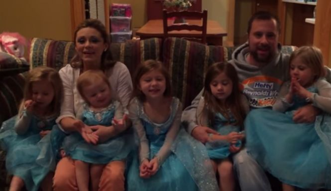 It was to be expected. Nascar driver Eric McClure and his wife Miranda already have five daughters. They probably know every nuance of every single line and