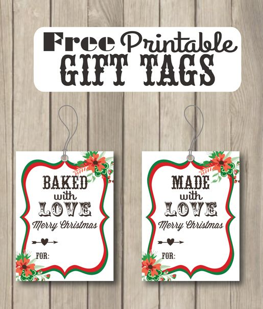 baked with love free printable gift tags diy holiday pinterest