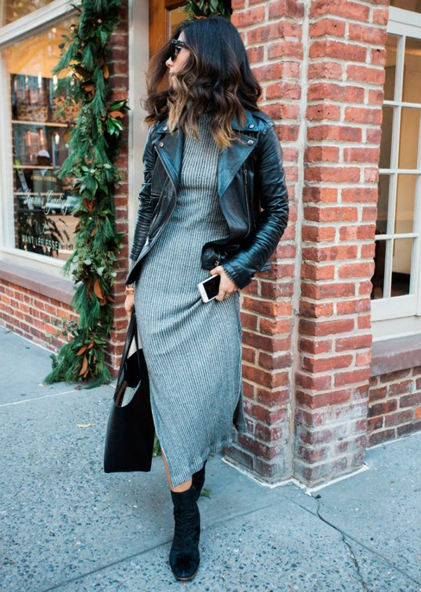 look com vestido para trabalhar no inverno